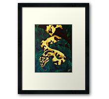 Saffron Entanglement Framed Print