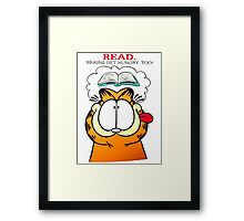 Garfield Hungry Brains Framed Print