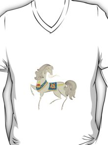 Dancing Horse in White T-Shirt