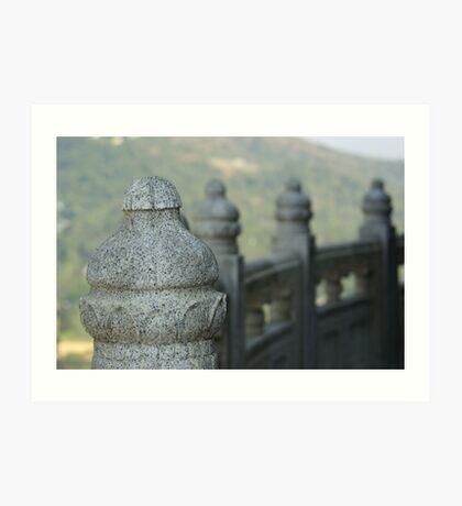 Sentinels - Po Lin Monastery, Hong Kong Art Print