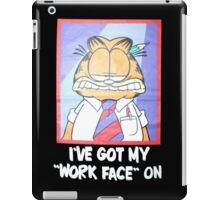 Garfield Work Face On iPad Case/Skin