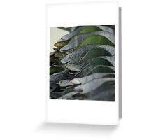 Corrugated waves Greeting Card