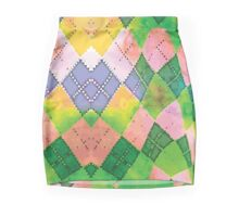 Colored Chessboard Pencil Skirt