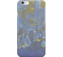 Champagne Ballroom closeup, glowing glitter fantasy chandelier iPhone Case/Skin