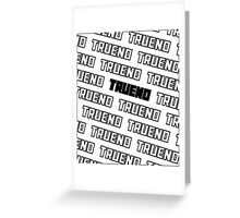 TRUENO Greeting Card