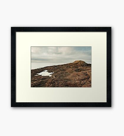 Lake Superior Lava Rift Framed Print