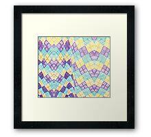 Colored Chessboard Framed Print