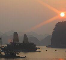 The Sun Sets in Vietnam by photochunk