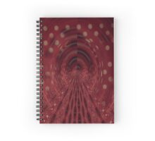 Red, Black & White Brush Spiral Notebook