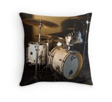 Drums in silence Throw Pillow