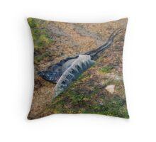 Resting on the Rocks - Portuguese Man-o-war Throw Pillow