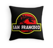 Godzilla Park - San Francisco Throw Pillow