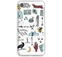 raven doodles iPhone Case/Skin