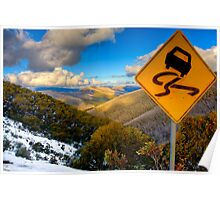 Curves ahead Poster