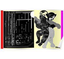 black jack n a beer back Poster