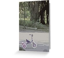 Tricycle in the park Greeting Card