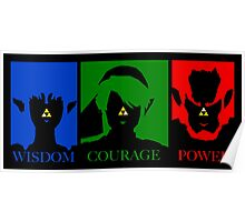 Triforce Wisdom Courage Power Poster