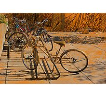 Bikes on an Orange Ground Photographic Print