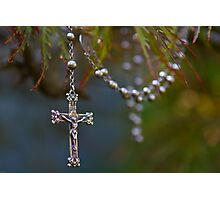 Nana Elsie's rosary beads Photographic Print