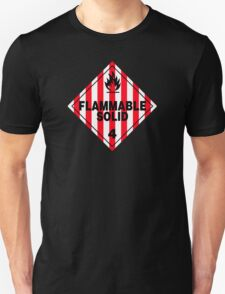 Flammable Solid Black Unisex T-Shirt