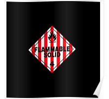 Flammable Solid Black Poster