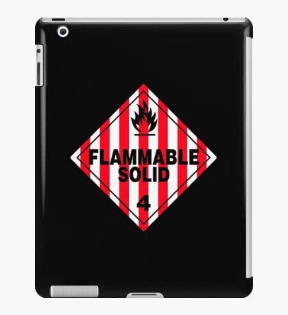 Flammable Solid Black iPad Case/Skin