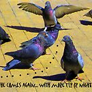 Pigeons at the Pizza Place by DAdeSimone