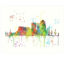Tucson, Arizona Skyline  Art Print