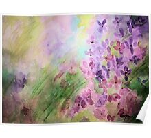 Lilas in the Garden-Watercolor painting Poster
