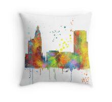 Tulsa, Oklahoma Skyline Throw Pillow