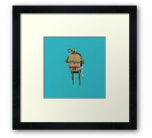 Raphael TMNT pixel fan art Framed Print