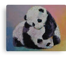 Baby Panda Rumble Canvas Print