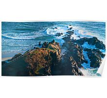 The Rocks Remain - Australian mainland's most easterly point Poster