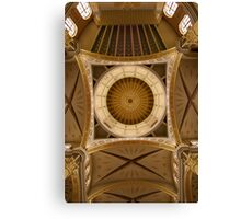 Church rotunda from inside looking up with columns Canvas Print