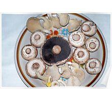 plate of Mushrooms Poster