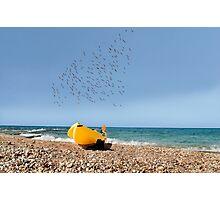Boat on coast  Photographic Print