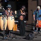 Buskers, Salamanca Markets, Hobart by Odille Esmonde-Morgan
