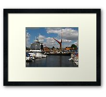 The Victor Sets Sail, Ipswich Waterfront Framed Print