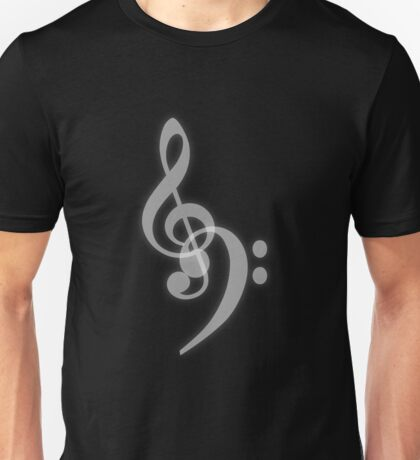 Music - Treble and Bass Clef Unisex T-Shirt