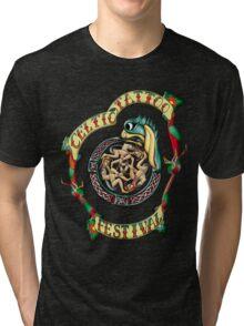 Celtic Tattoo Festival Design Tri-blend T-Shirt