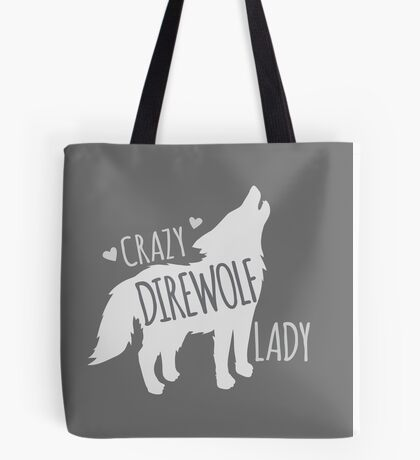 CRAZY Direwolf lady Tote Bag