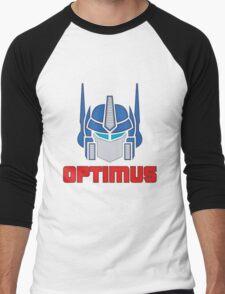 Optimus Prime Logo Men's Baseball ¾ T-Shirt