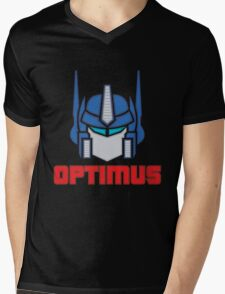 Optimus Prime Logo Mens V-Neck T-Shirt