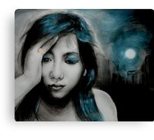 dark is the night Canvas Print