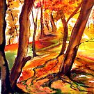 Autumn Forest - Trees by © Linda Callaghan
