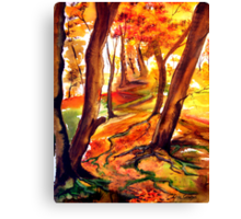 Autumn Forest - Trees Canvas Print