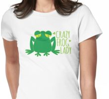 Crazy Frog Lady Womens Fitted T-Shirt