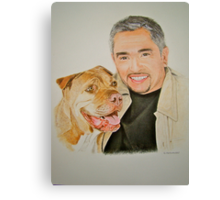 Cesar and Daddy.. Canvas Print