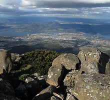 View from Mt. Wellington - Hobart, Tasmania, Australia by pocketdelight