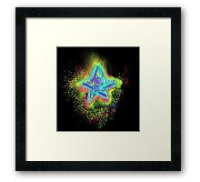 Rainbow Star Mist Framed Print